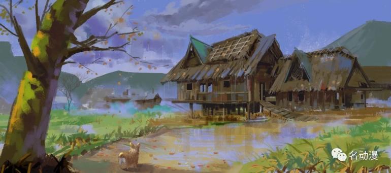 场景色彩速涂教程,11步教你绘出唯美田园风景画