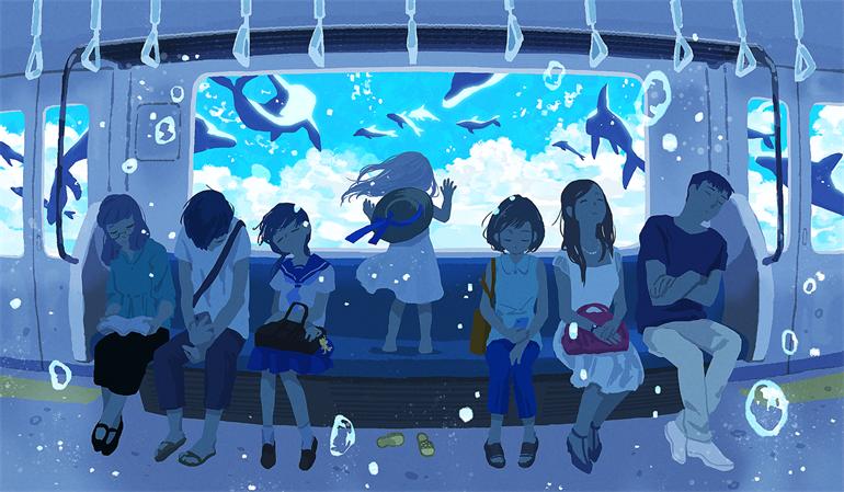 日本画师もなか的精彩插画