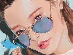 韩国概念艺术家JungBae Lee笔下的可爱小姐姐