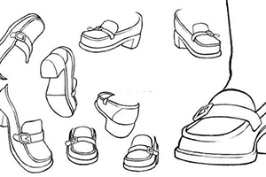 皮鞋怎么画?日式JK小皮鞋画法教程