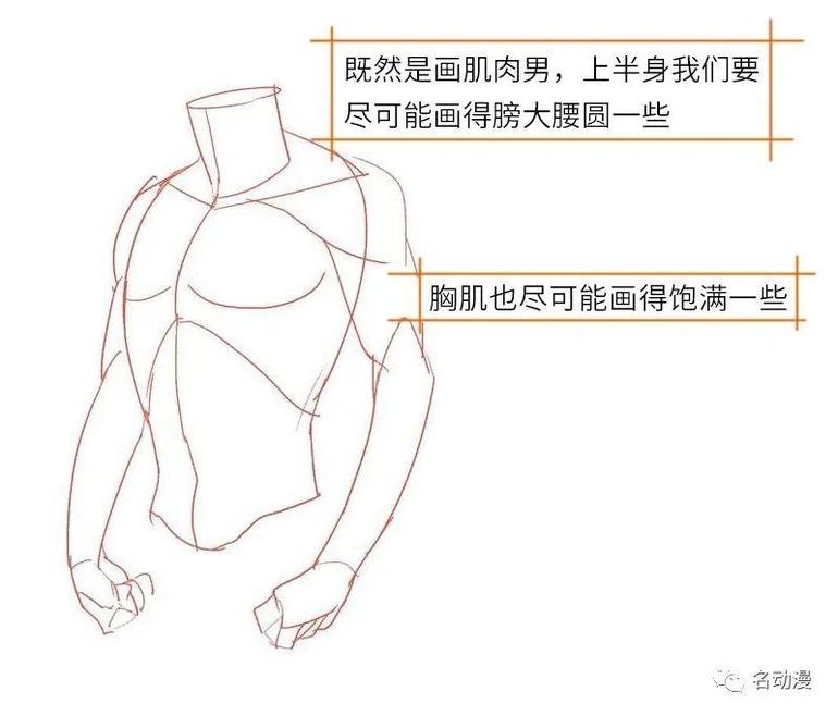 肌肉男衣服褶皱细节绘画处理方法