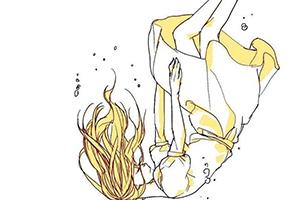 教你画一个水中的少女