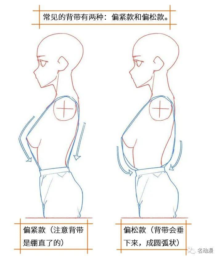背带的画法教程