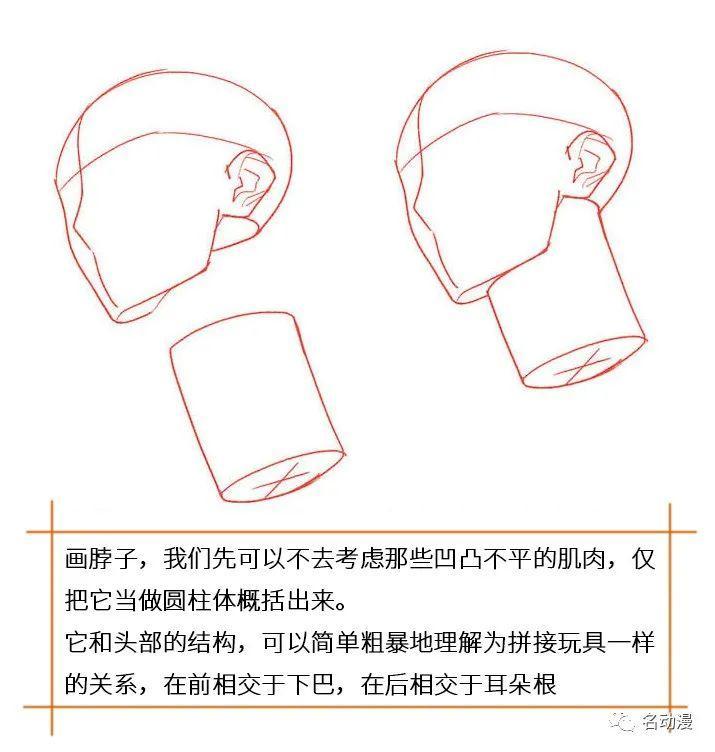 教你画肌肉男的脖子、颈部、肩部