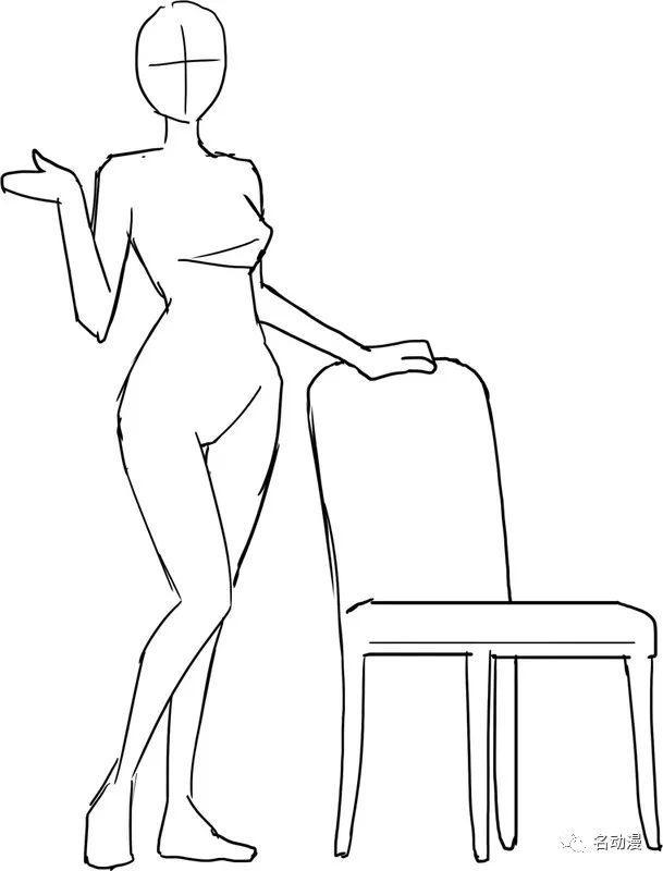 二次元人物坐姿画法技巧,学会这3点告别悬空蹲!