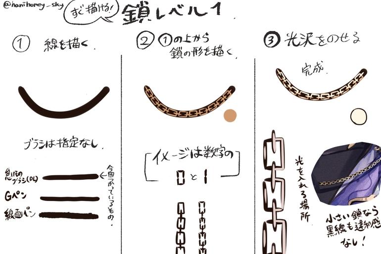 动漫中的锁链怎么画?