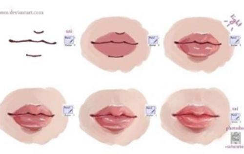 人物嘴唇的画法教程