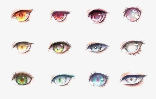 二次元人物眼睛常见画法教程