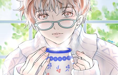 怎么画戴着眼睛的男生?