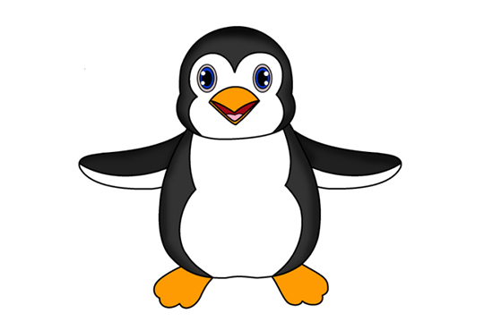 怎样画企鹅?超简单企鹅画法教程!