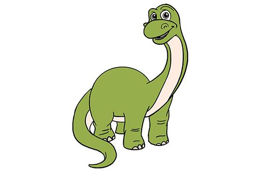 怎样画恐龙?初学者画恐龙步骤图